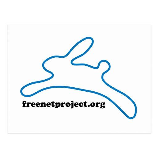 Freenet Bunny Postcard