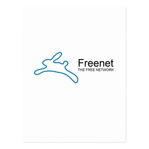 Freenet Bunny Text Postcard