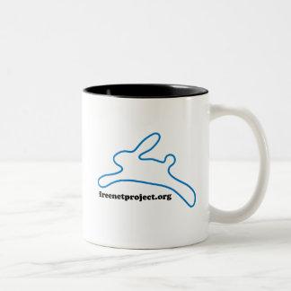 Freenet Bunny Two-Tone Coffee Mug