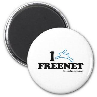 Freenet del conejito imán redondo 5 cm