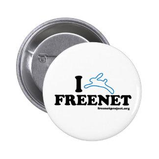 Freenet del conejito pin redondo 5 cm