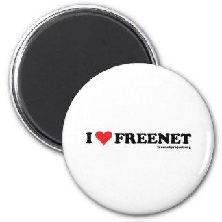 Freenet del corazón - De largo Imán Redondo 5 Cm