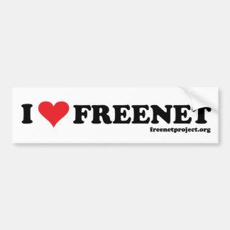 Freenet del corazón - De largo Pegatina Para Auto