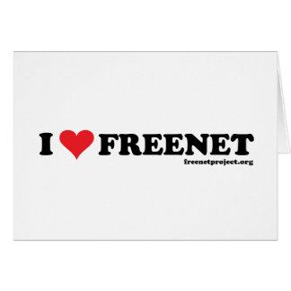 Freenet del corazón - De largo Tarjeta De Felicitación