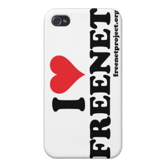 Freenet del corazón iPhone 4 carcasas