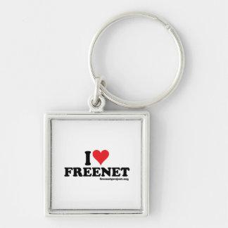 Freenet del corazón llaveros