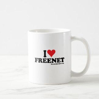 Freenet del corazón taza de café