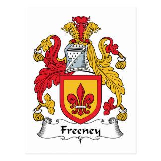 Freeney Family Crest Postcard