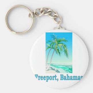 Freeport, Bahamas Keychain