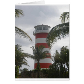 Freeport Bahamas lighthouse Card