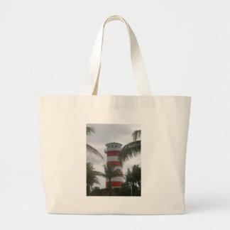 Freeport Bahamas lighthouse Large Tote Bag