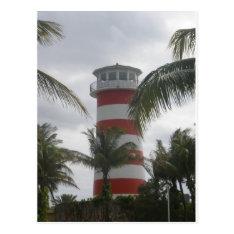 Freeport Bahamas lighthouse Postcard at Zazzle