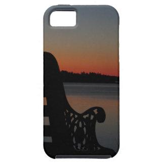 Freeport Maine Moon at Sunrise iPhone SE/5/5s Case