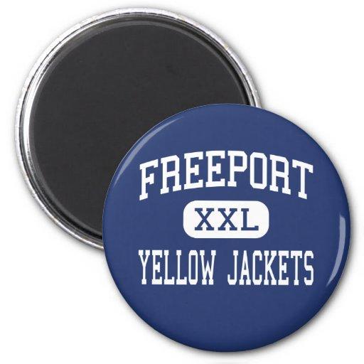 Freeport - Yellow Jackets - Area - Freeport 2 Inch Round Magnet