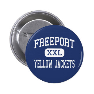 Freeport - Yellow Jackets - Area - Freeport Pinback Button