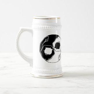 Freepott Stein Mug (White/Gold)