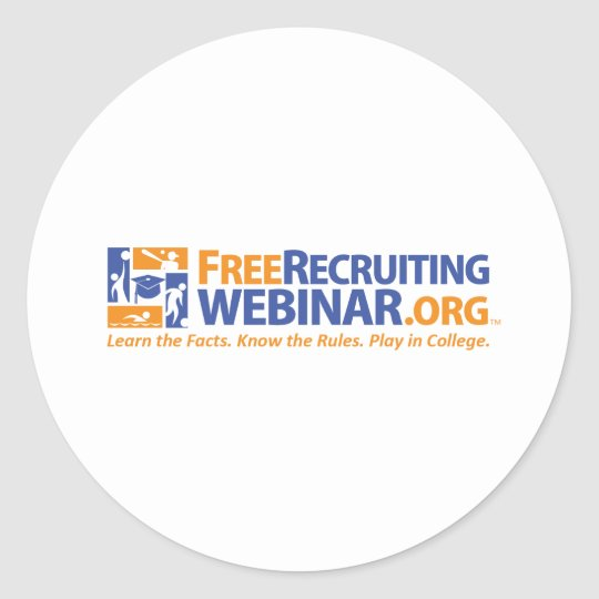 FreeRecruitingWebinar.org Classic Round Sticker