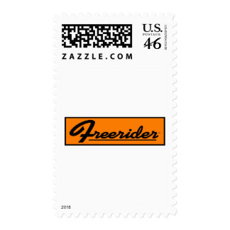 FREERIDER Orange Banner Postage Stamp