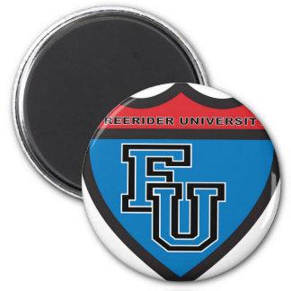 FREERIDER UNIVERSITY Badge Magnet