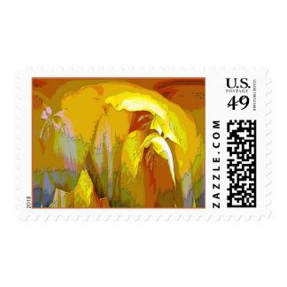 Freesia Abstract Stamp