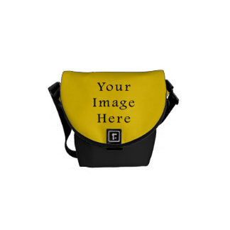 Freesia Bright Yellow Color Trend Blank Template Courier Bag