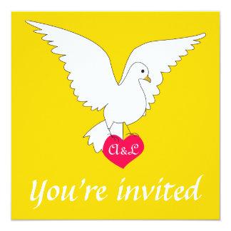 """Freesia Dove Wedding Invitation 5.25"""" Square Invitation Card"""