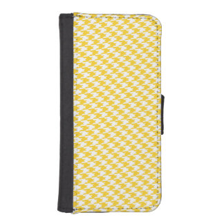 Freesia & White Houndstooth iPhone Wallet Case Phone Wallets