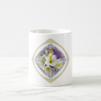 Freesia White Lavender Coffee Mugs
