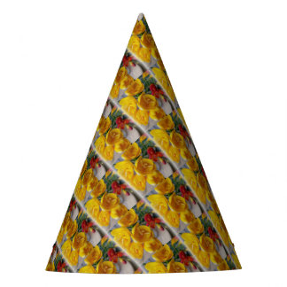 freesias bouquet party hat