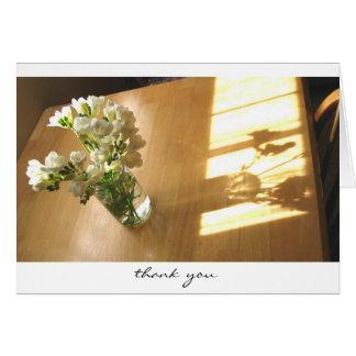 Freesias in Vase Thank You Card