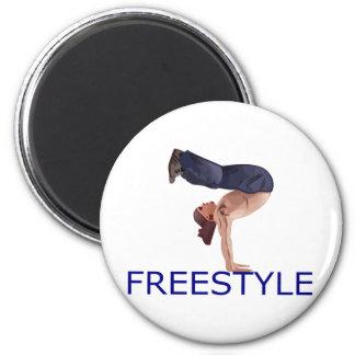 Freestyle B Boy 2 Inch Round Magnet