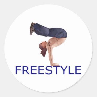 Freestyle B Boy Classic Round Sticker