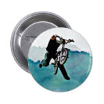 Freestyle BMX Bicycle Stunt 2 Inch Round Button