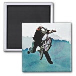 Freestyle BMX Bicycle Stunt 2 Inch Square Magnet