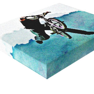 Freestyle BMX Bicycle Stunt Canvas Print