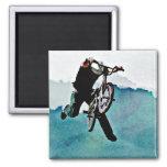 Freestyle BMX Bicycle Stunt Fridge Magnets