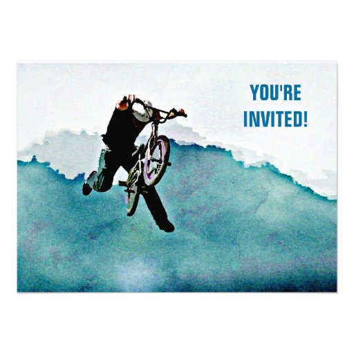 Freestyle BMX Bicycle Stunt Custom Invite