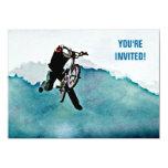 Freestyle BMX Bicycle Stunt 4.5x6.25 Paper Invitation Card