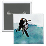 Freestyle BMX Bicycle Stunt Pinback Buttons