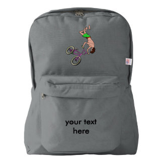 Freestyle BMX Rider Back Flip American Apparel™ Backpack