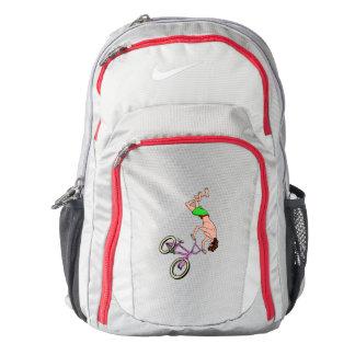 Freestyle BMX Rider Back Flip Nike Backpack