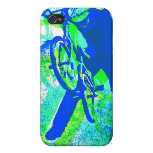 Freestyle BMX Rider in Cool Pop Art Style iPhone 4/4S Cover