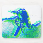 Freestyle BMX Rider in Cool Pop Art Style Mouse Pad