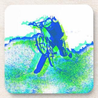 Freestyle BMX Trick Pop Art Coaster
