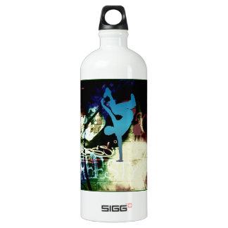 Freestyle Break Dance Graffiti Aluminum Water Bottle