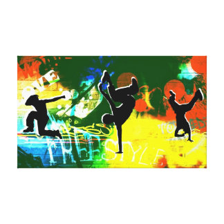 Freestyle Break Dance Graffiti Canvas