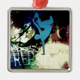 Freestyle Break Dance Graffiti Metal Ornament