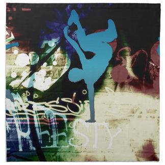 Freestyle Break Dance Graffiti Napkin