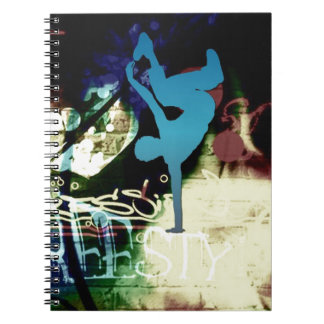 Freestyle Break Dance Graffiti Notebook