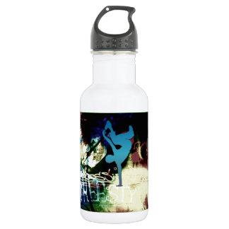 Freestyle Break Dance Graffiti Stainless Steel Water Bottle